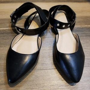 Chase + Chloe Black Ballet Flats